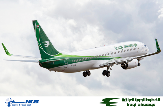 Iraqi Airways brand new Boeing 737-800 aircraft